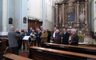 Vorher jedoch wurde in der Stadtpfarrkirche auch noch gesungen