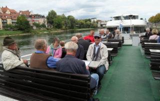 Strudelfahrt auf der Donau